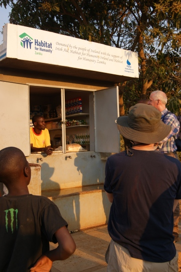 one of the water kiosks installed by Habitat for Humanity in partnership with the local water company