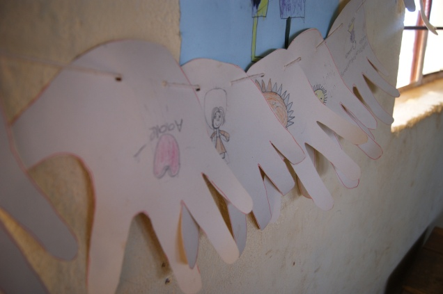 Children's artwork in Pastor Francis's Community School