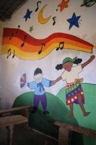 Mural painted by Korean Habitat for Humanity Team in Pastor Francis's Community School