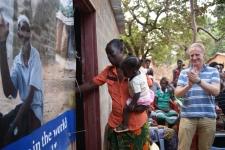 Helen opening the door to her new home