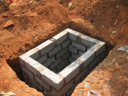 construction of the pit latrine