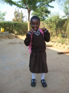 Beauty on her way to school