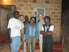 Old friends in Kawama, 2012. Including Ben, Gavin, Mr Levy, Clara, me and Innocent