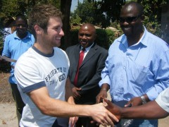 Gavin meeting the deputy mayor of Ndola, local member of parliament and CEO of Habitat Zambia, 2012
