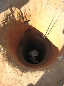 Digging a well take ten days for two men - 15 metres deep - by hand,
