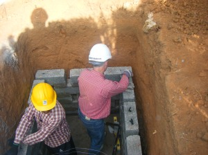 Building the foundations for a latrine