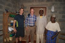 With Paul and Mr Adam and Kenna, who received a house in 2013 from Habitat for Humanity