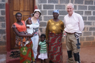 Elizabeth and grandchildren for whom we built a house in 2015