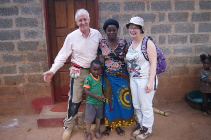 Helen and Mpalo for whom we built a house in 2015