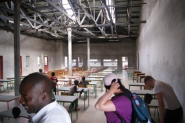 Desks that were donated by Backoffice Storage being used for the state examinations in Young Nak School