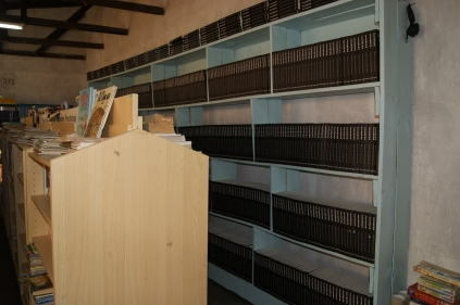 bookshelves and Books in Graceland School