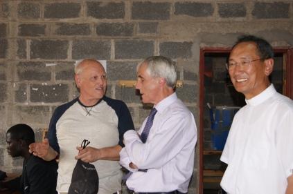 with the Irish Ambassador, Seamus O'Grady at Young Nak School