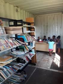 Container children at desk